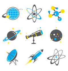 science stuff icon universe solar planet vector image