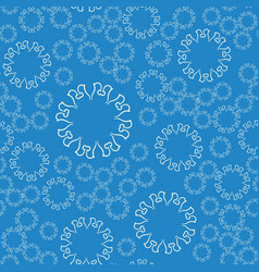 seamless blue flower mandala for print on textile vector image