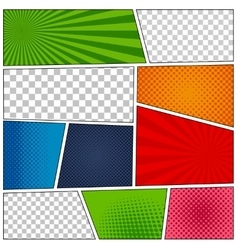 Set of comic book backgrounds vector image