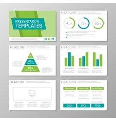 Set of green and turquoise template for vector image