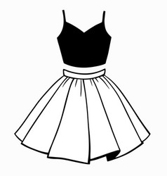 set womens clothing top and skirt vector image