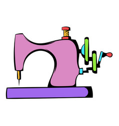 sewing machine icon icon cartoon vector image