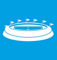 Stadium icon white vector