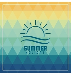 Summer design icon polygon graphic vector image