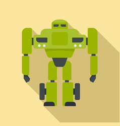 super robot transformer icon flat style vector image