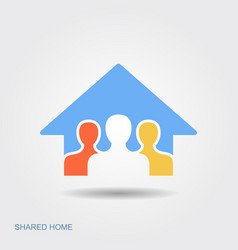 symbol shared house stay at home save vector image