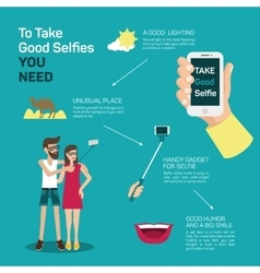 The best selfie tips vector