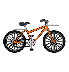 Transportation bicycle cartoon vector