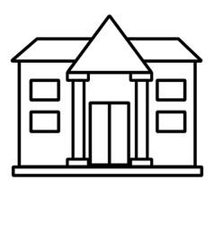 university icon vector image