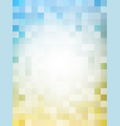 vertical abstract pixel in blue and yellow vector image