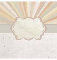 Vintage Sunburst Card vector image