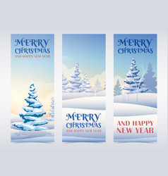 winter holidays vertical banners vector image