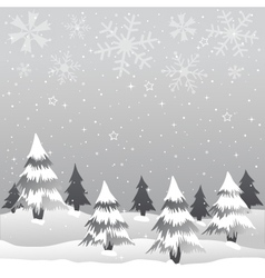 winter merry christmas vector image