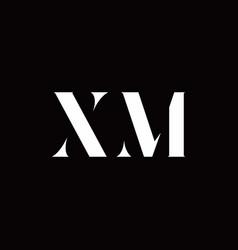 xm logo letter initial logo designs template vector image