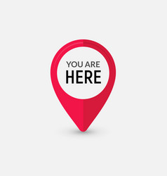 you are here sign icon mark destination or vector image