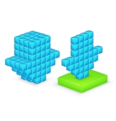 3D arrow download vector image
