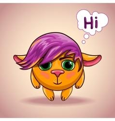 Emo alien animal character vector image