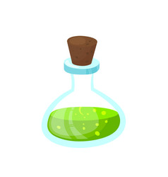 glass beaker with a poisonous liquid image vector image