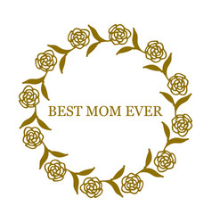 greeting card for mother s day vector image vector image