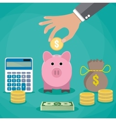 Money saving concept vector image