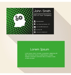 green abstract dots business card design eps10 vector image vector image