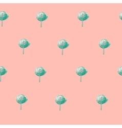 Pattern green trees vector image vector image