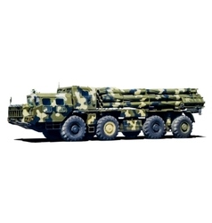 Smerch Multiple Launch Rocket System MLRS vector image vector image