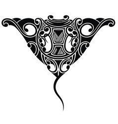 stingray tattoo in maori ethnic style vector image