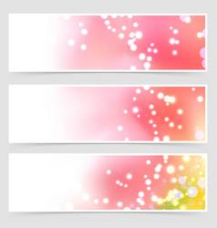 bright shimmering seasonal web header set vector image