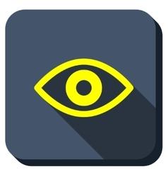 Eye View Longshadow Icon vector image