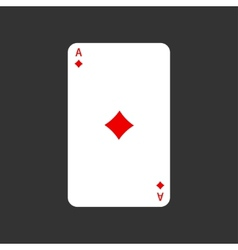 ace playing card on gray vector image