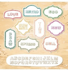 Alphabet and frames vector image vector image