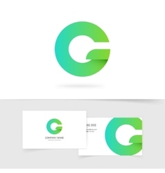 Green gradient letter g or q logo design vector image