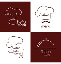 Restaurant menu icons vector image