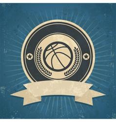 Retro Basketball Emblem vector image