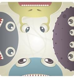 Set of Monster vector image