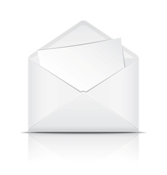 White open envelope with paper vector image vector image