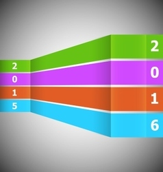 Abstract colorful banner with 2016 vector