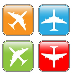 Airplane buttons set vector