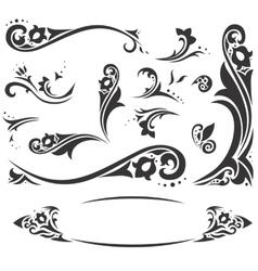 Arabic frames and design elements set vector image