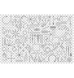 arrows doodle set vector image