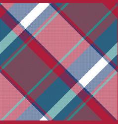Asimetric check plaid pixel seamless pattern vector