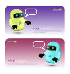banner with chat bot concept virtual vector image