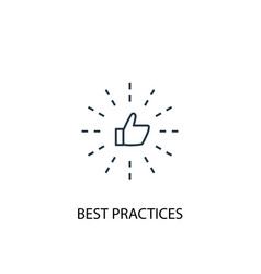 Best practices concept line icon simple element vector