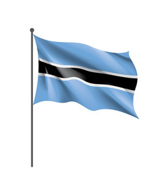 botswana flag on a white vector image