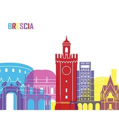 Brescia skyline pop vector