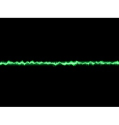 Bright sound wave on a dark green EPS 10 vector