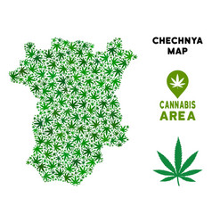 Cannabis collage chechnya map vector