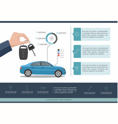 car auto service template infographic vector image
