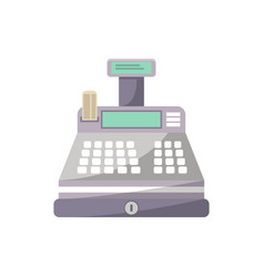 Cash machine icon in flat style vector